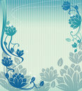Blue lotus background Royalty Free Stock Photos