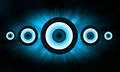 Blue Loudspeaker background Stock Images