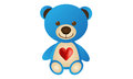 Blue love bear a cute teddyof Royalty Free Stock Photo