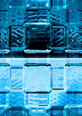 blue luminescence glass Royalty Free Stock Photo