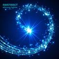 Blue magic sparkle glittering light Royalty Free Stock Photo