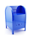 Blue mailbox isolated Royalty Free Stock Images