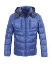 Blue male winter jacket Royalty Free Stock Photo