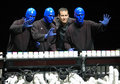 Blue Man Group in Berlin Royalty Free Stock Photo