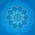 Blue mandala Stock Photo