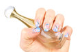 Blue manicure Stock Images