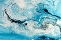 Blue marbling texture. Creative background with abstract oil painted waves, handmade surface Royalty Free Stock Photo