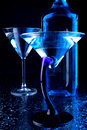 Blue martini glasses Royalty Free Stock Photo