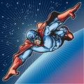 Blue Mask Hero 2 Royalty Free Stock Photo