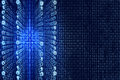 Blue Matrix Abstract - binary code Digital background Royalty Free Stock Photo