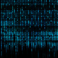 Blue Matrix Abstract - binary code screen background Royalty Free Stock Photo