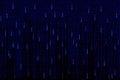 Blue matrix background computer generated Stock Image