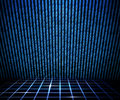 Blue Matrix Room Stock Photos