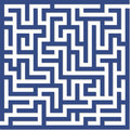 Blue maze Stock Photo