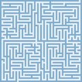 The blue maze Royalty Free Stock Photo
