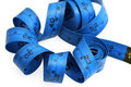 Blue measure tape Royalty Free Stock Image