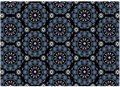 Blue Medallion Pattern Royalty Free Stock Photo
