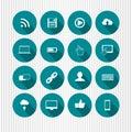 Blue media icons Royalty Free Stock Photo