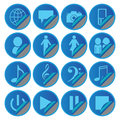 Blue Media Social Icons stickers Royalty Free Stock Photo