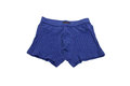 Blue men s briefs boxers on a white background Royalty Free Stock Photography