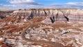 Blue Mesa at Petrified Forest National Park, Arizona USA Royalty Free Stock Photo