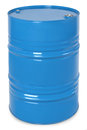 Blue metal barrel Royalty Free Stock Photo