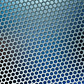 Blue metal holes Stock Images
