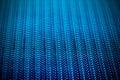 Blue metal mesh plating