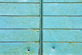 Blue metal panels as a background image Stock Image