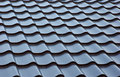 Blue  metal tile roof Royalty Free Stock Photo