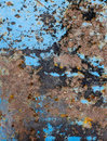 Blue metallic texture with rust for backgrounds Royalty Free Stock Photo
