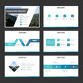 Blue minimal presentation templates Infographic elements flat design set for brochure flyer leaflet marketing advertising