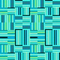 Blue and mint green modern stripes repeating pattern