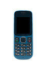 Blue mobile phone on white background Royalty Free Stock Photography
