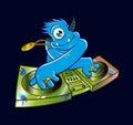 Blue monster dj hip hop