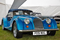 Blue morgan sports car newbury uk september a stands on display for public viewing at the berks county show on september in Royalty Free Stock Photo
