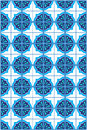 Blue moroccan mosaic tile pattern simple repeating seamless background vector available Royalty Free Stock Photo