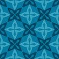 Blue moroccan ornamental ceramic tile