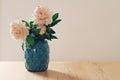 Blue Moroccan Style Vase Of La...