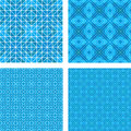 Blue mosaic floor design set Royalty Free Stock Photo