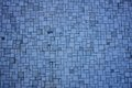 Blue mosaic irregular with square and rectangular pieces Royalty Free Stock Image