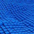 Blue mosaic surface with convex effect Stock Photo