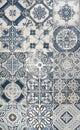 Blue mosaic tiles Royalty Free Stock Photo