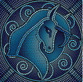 Blue Mosaic Unicorn Royalty Free Stock Photos