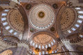 Blue mosque ceiling istanbul the adorned patterned dome on the of the in downtown turkey Royalty Free Stock Photo