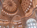 Blue Mosque Ceiling Istanbul Turkey Stock Photos
