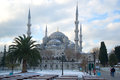 The Blue Mosque on a cloudy January day. Winter Istanbul Royalty Free Stock Photo