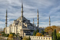 Blue mosque famous in the center of istanbul Stock Photography