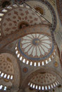 Blue Mosque Interior Royalty Free Stock Photo