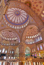 Blue mosque interior in Istanbul Turkey Royalty Free Stock Photo